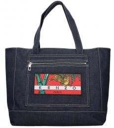 Kenzo Blue Momento Collection Large Tote