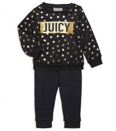 Juicy Couture 2 Piece Sweatshirt/Pants Set (Baby Girls)