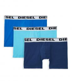 Diesel Medium Blue 3-Pack Boxer Briefs
