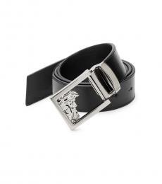 Versace Collection Black Medusa Buckle Belt