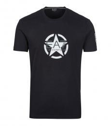 Emporio Armani Black Front Logo T-Shirt
