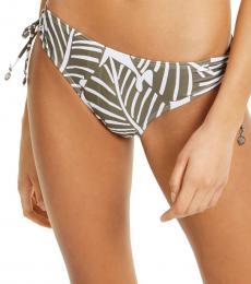 DKNY Olive Printed Side-Tie Bikini Bottoms
