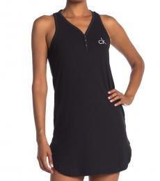 Calvin Klein Black Sleeveless Nightshirt