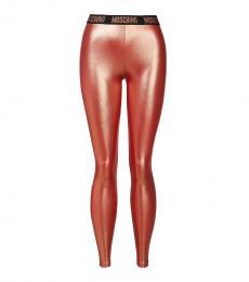 Moschino Bronze Logo Detail Legging