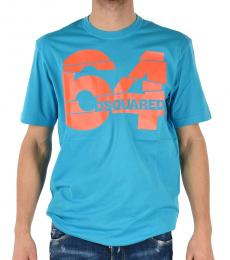 Dsquared2 Turquoise Logo Graphic T-Shirt