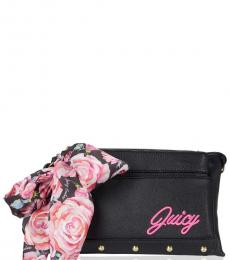Juicy Couture Black In Bloom Medium Crossbody