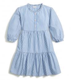 J.Crew Little Girls Banker Blue Tiered Dress