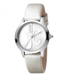 Just Cavalli Silver Logo Modish Watch