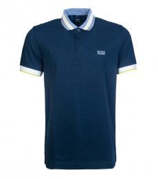 Hugo Boss Navy Blue Paule Slim Fit Polo