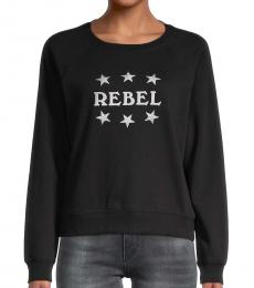 Rebecca Minkoff Black Graphic Cotton-Blend Sweatshirt