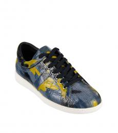Dolce & Gabbana Blue Leather Sneakers