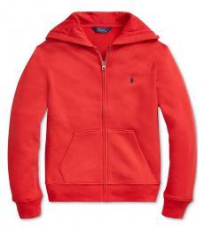 Ralph Lauren Boys Red Full Zip Hoodie