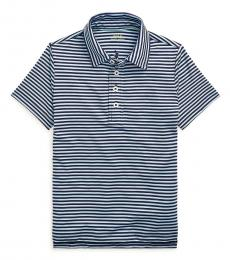 Ralph Lauren Little Boys Navy Powder Jersey Golf Polo
