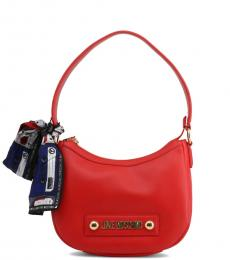Love Moschino Red Scarf Medium Shoulder Bag