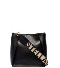 Black Logo Tape Medium Crossbody Bag