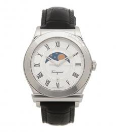 Salvatore Ferragamo  Silver Moonphase Dial Watch