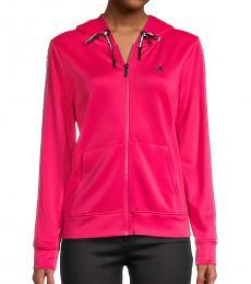 Karl Lagerfeld Bright Rose Logo Hooded Jacket