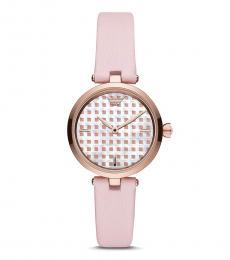Emporio Armani Pink Round Dial Watch