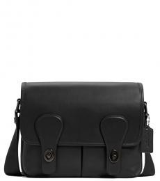 Coach Black Heritage Medium Messenger Bag