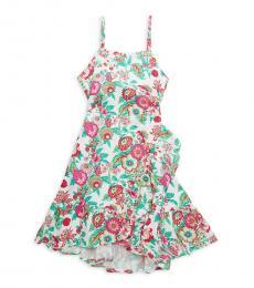 BCBGirls Girls Pink Green Floral Dress