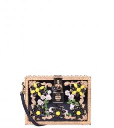 Black Gold Daisy Mini Shoulder Bag