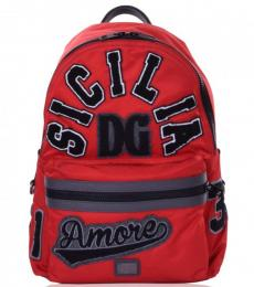 Red Sicily Large Backpack