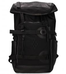 Marcelo Burlon Black Traveller Large Backpack