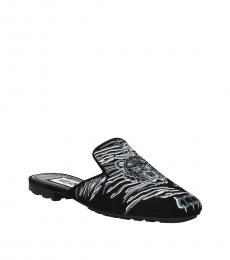 Kenzo Black Printed Mules