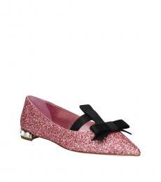 Pink Glitter Ballet Flats