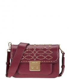 Oxblood Sloan Studded Small Crossbody