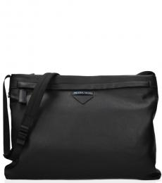Prada Black Classic Large Messenger Bag