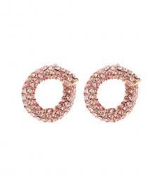 Michael Kors Pink Twist Huggie Earrings