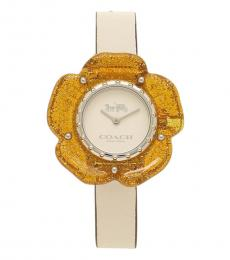 Coach Beige Face Perry Watch