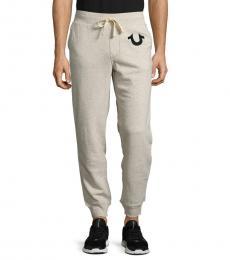 Oatmeal Drawstring Jogger Pants