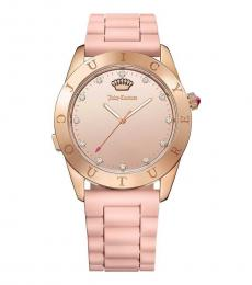 Juicy Couture Pink Mirrored Modish Watch