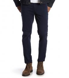 7 For All Mankind Navy Blue Adrien Slim Straight Jeans