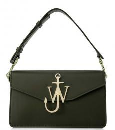 Olive Logo Medium Shoulder Bag