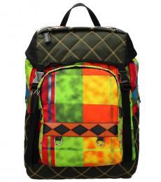 Prada Multicolor Printed Large Backpack