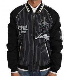 Dolce & Gabbana Black Sequined Beaded Jacket