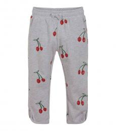 Little Girls Grey Cherry Joggers