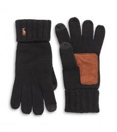 Black Wool Touch Gloves