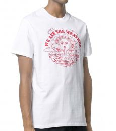 White Small Sun Jersey T-Shirt