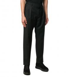Valentino Garavani Black Wool Tapered Trousers
