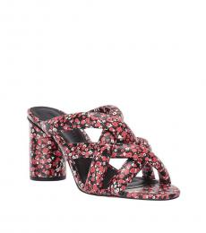 Red Floral Amandine Heels