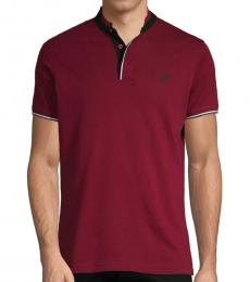 Roberto Cavalli Bordeaux Logo Cotton Polo