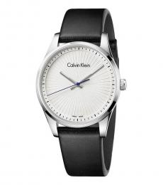 Calvin Klein Black-Silver Steadfast Silver Dial Watch