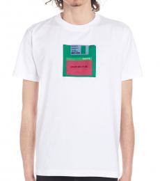 Marcelo Burlon White Floppy Print T-Shirt
