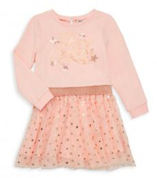 Juicy Couture Little Girls Pink Star-Embellished Tulle Dress