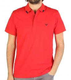 Red Front Logo Polo