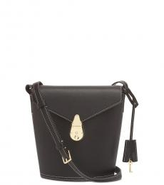 Black/Gold Lock Small Bucket Bag